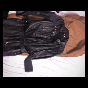 A Gucci leather jacket. Lambskin, soft leather.